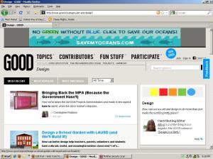 Screenshot of the website GOOD