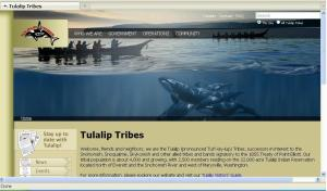 Tulalip Tribes home page