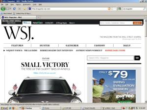 WSJ Magazine home page