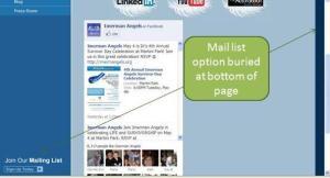 Screenshot showing buried Subscribe option