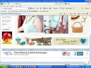 Screenshot of graphics on home page of ModCloth website
