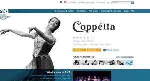 Screen shot: Pacific Northwest Ballet